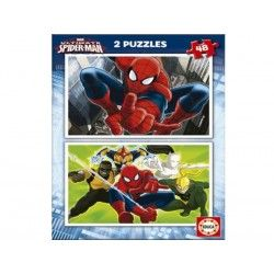 15639 - Puzzle Spyderman ultimate, 2 x 48 piezas, Educa