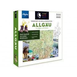 88019 - Puzzle Mapa de Allgau, Alemania, 500 piezas, Puzzlemap
