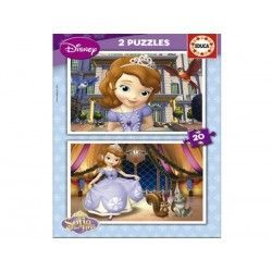15926 - Puzzle Princesa Sofia, 2 x 20 piezas, Educa