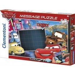 20233 - Puzzle Mensaje Cars, 104 piezas, Clementoni