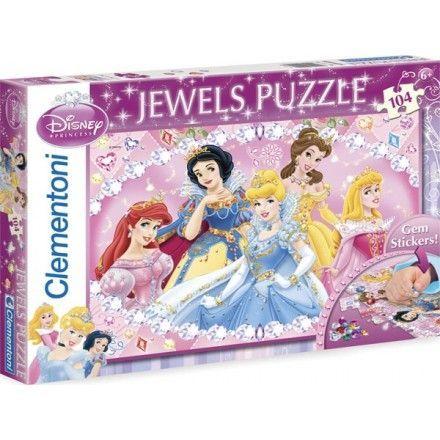 20018 - Puzzle Joyas Princesas, 104 piezas, Clementoni