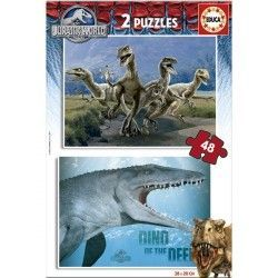 16339 - Puzzle Jurassic World, 2 x 48 piezas, Educa