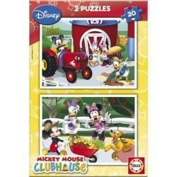 15290 - Puzzle Club House, 2 x 20 pìezas, Educa