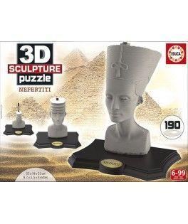 16966 - Puzzle 3D Nefertiti, 190 piezas, Educa