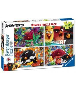 6862 - Puzzle Angry Birds, 4 x 100 piezas, Ravensburger