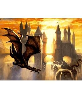 17312 - Puzzle Sunset Dragon, 1000 piezas, Educa
