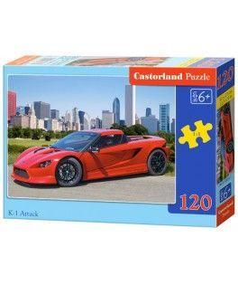12824 - Puzzle Ataque Coche deportivo, 120 piezas, Castorland