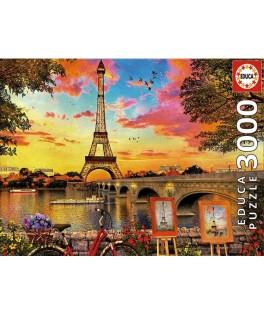 17675 - Puzzle Puesta de Sol en París, 3000 piezas, Educa