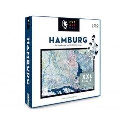 88005 - Puzzle Mapa de Hamburgo, 500 piezas, Puzzlemap