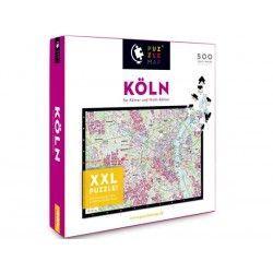 88011 - Puzzle Mapa de Koln, Alemania, 500 piezas, Puzzlemap