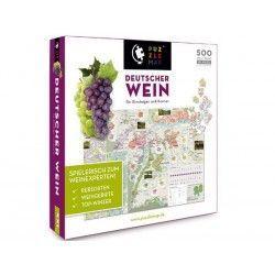 88013 - Puzzle Mapa del Vino Alemán, 500 piezas, Puzzlemap