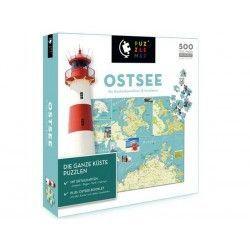 88017 - Puzzle Mapa de Ostee, Alemania, 500 piezas, Puzzlemap