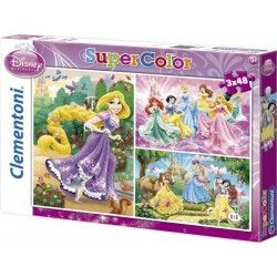 25189 - Puzzle Princesas Disney, 3 x 48 piezas, Clementoni