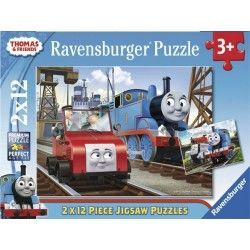 075683 - Puzzle Thomas & Friends, 2 x 12 Piezas, Ravensburger