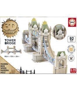 16999 - Puzzle 3D Tower Bridge, 92 piezas, Educa