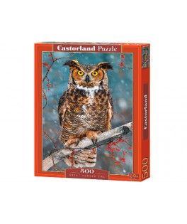 52387 - Puzzle Gran Búho Cornado, 500 piezas, Castorland
