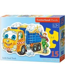 15061 - Puzzle El Pequeño Camión de Arena, 15 piezas, Castorland