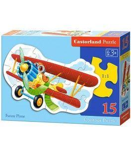 15092 - Puzzle Avión Divertido, 15 piezas, Castorland