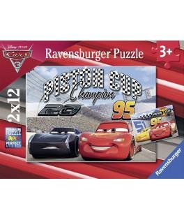 7609 - Puzzle Piston Cup, 2 x 12 piezas, Ravensburger