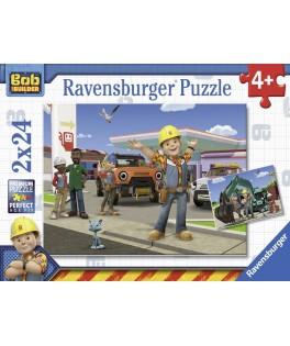 9151 - Puzzle Bob el Constructor, 2 x 24 piezas, Ravensburger