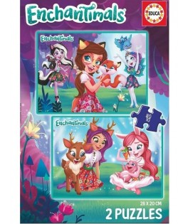 17933 - Puzzle Enchantimals, 2 x 48 Piezas, Educa