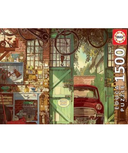 18005 - Puzzle Old Garage, Arly Jones, 1500 piezas, Educa