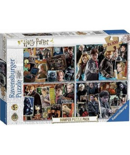 6832 - Puzzle Harry Potter, 4 x 100 piezas, Ravensburger