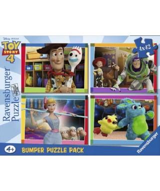 6836 - Puzzle Toy Story 4, 4 x 42 piezas, Ravensburger