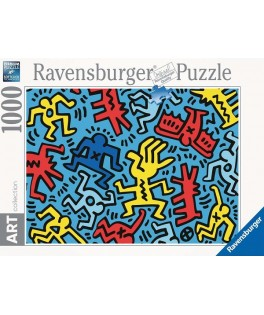 14992 - Puzzle 092 Color 2, Keith Haring, 1000 piezas, Ravensburger