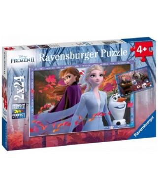 5010 - Puzzle Frozen II, 2 x 24 piezas, Ravensburger
