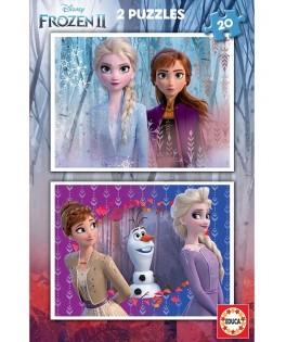 18109 - Puzzle Frozen 2, 2 x 20 Piezas, Educa