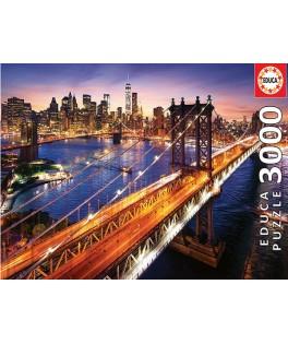 18508 - Puzzle Manhattan de Noche, 3000 piezas, Educa