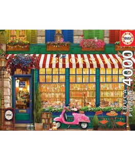 18582 - Puzzle Librería Vintage, 4000 piezas, Educa