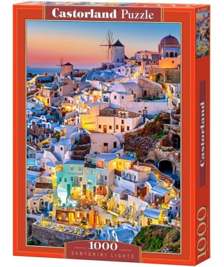 103522 - Puzzle Luces de Santorini Grecia, 1000 piezas, Castorland
