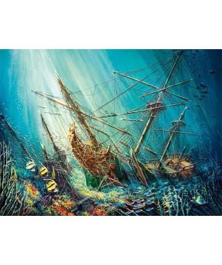 103805 - Puzzle tesoro del océano, 1000 piezas, Castorland