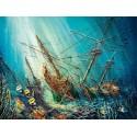 103805 - Puzzle de barcos, tesoro del océano, 1000 piezas, Castorland