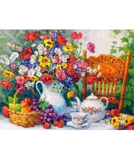 103836 - Puzzle tiempo para el té, 1000 piezas, Castorland
