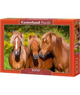 103959 - Puzzle caballos amigos, 1000 piezas, Castorland