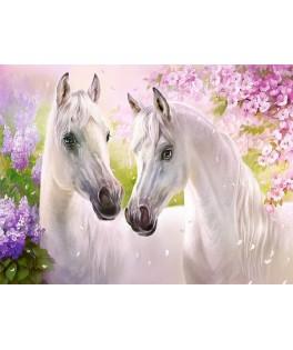 104147 - Puzzle caballos románticos, 1000 piezas, Castorland