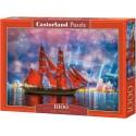 104482 - Puzzle fragata roja barcos, 1000 piezas, Castorland