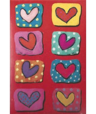 120315 - Minipuzzle corazones y puntos, Anne Holz, 150 piezas, Fridolin