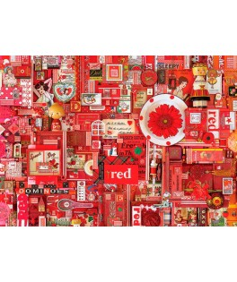 80146 - Puzzle Color Rojo, 1000 piezas, Cobble Hill
