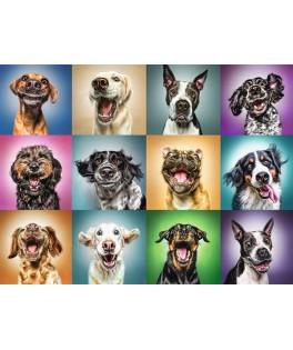10462 - Puzzle retratos divertidos de perros, 1000 piezas, Trefl