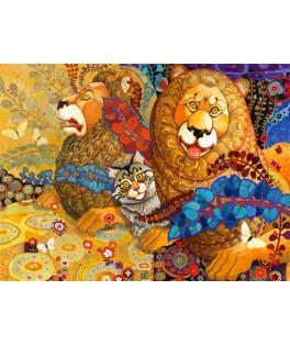 70091 - Puzzle Tapíz Leonine, 1000 piezas, Bluebird