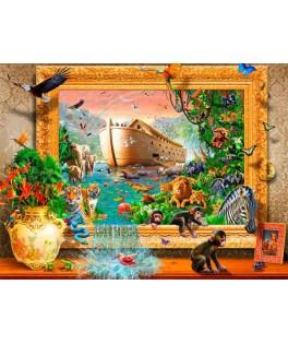 70140 - Puzzle El Arca de Noe, 1000 piezas, Bluebird