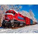 70282 - Puzzle Tren Rojo en la Nieve, 1500 piezas, Bluebird