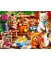 70241 - Puzzle gatitos en el Cobertizo, 1000 piezas, Bluebird
