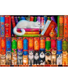 70216 - Puzzle Estantería de gatos, 1000 piezas, Bluebird