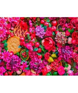 70222 - Puzzle Flores Y Frutas, 1500 piezas, Bluebird