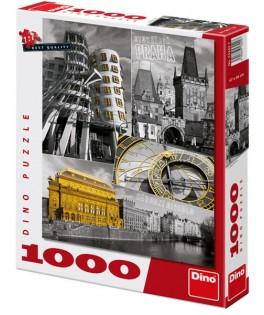 53242 - Puzzle Praga, 1000 piezas, Dino